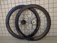 1pair New 700C 60mm tubular rims track fixed gear bike aero 3K full carbon fibre bicycle wheelsets with Fixed Gear hub Free ship|Bicycle Wheel|Sports & Entertainment -