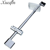 Xueqin Stainless Steel Shower Rod With Soap Dish Lifter Stainless Steel Pipe ABS Lifting Frame Adjustable