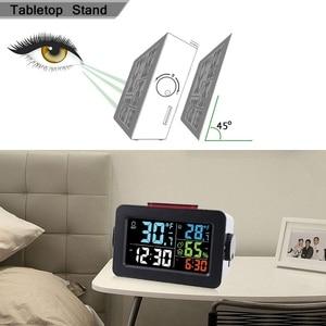 Image 3 - שעון מעורר חם אלחוטי דיגיטלי מדדי לחות מדחום אלחוטי טמפרטורה לחות צג עם תאורה אחורית T