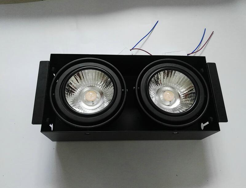 Dimmable CREE LED Downlight 2*15 W 30 W LED Spot Dimmable 220 V LED Spot encastré Downlight maison blanche 6 pcs/lot