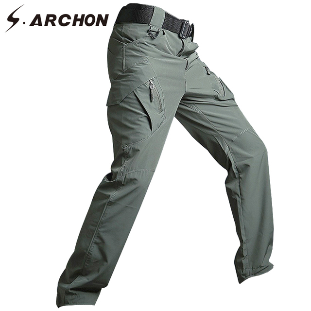 S.ARCHON Military Tactical Army Pants Men Casual Breathable Lightweight Fast  Dry Cargo Pants Stretch Multi Pockets Trousers Men e464dca8b