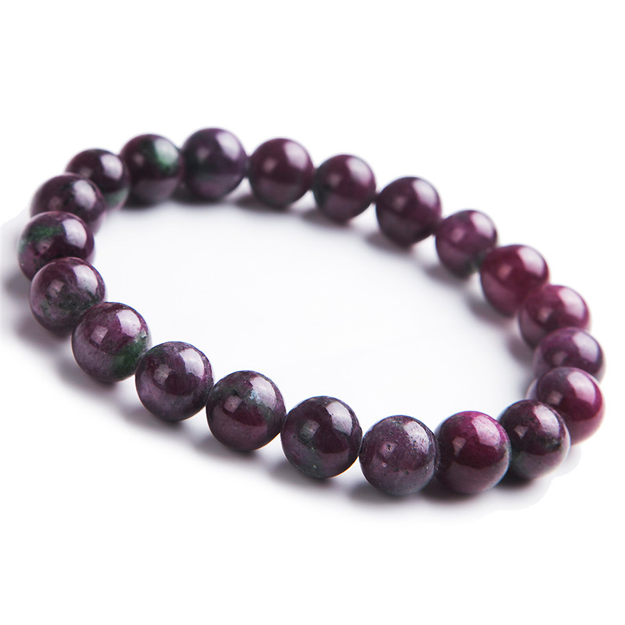 8.5mm Drop Shipping Genuine Natural Red Zoisite Gem Stone Stretch Bracelets For Women Femme Charm Round Crystal Bead Bracelet 8 5mm natural zoisite gem stone crystal round bead bracelets for women femme charm stretch bracelet
