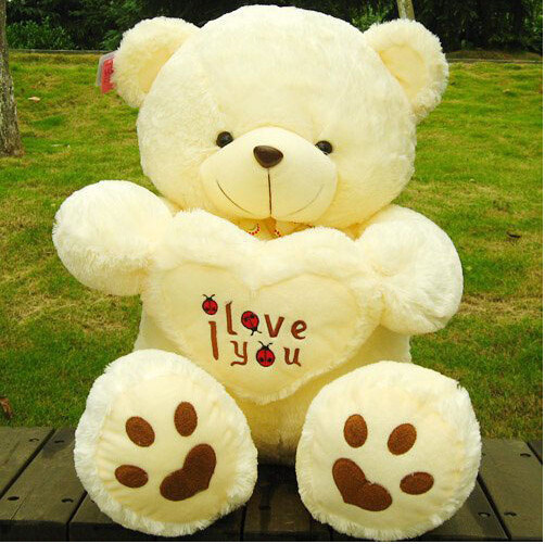 Free Shipping 70 cm Lovely Teddy Bear Big Toys Stuffed Plush Animals Hold The Heart Bear I love You Teddy Bear 2017 New Arrival fancytrader new style giant plush stuffed kids toys lovely rubber duck 39 100cm yellow rubber duck free shipping ft90122