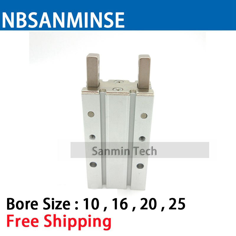Free Shipping Cylinder Double Acting MHY2 Type 180 Angle Angular Style Air Gripper Cam Style High Quality Sanmin high quality double acting pneumatic gripper mhy2 20d smc type 180 degree angular style air cylinder aluminium clamps