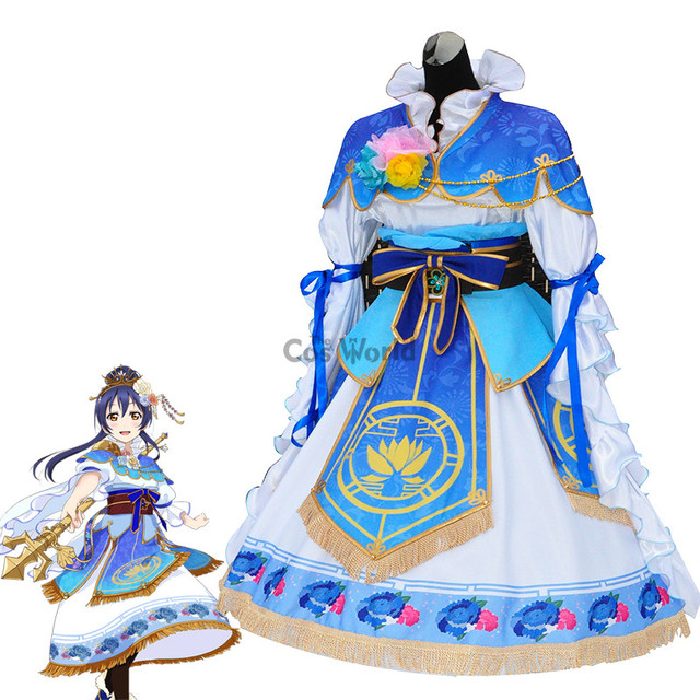 Love Live School Idol Project Sonoda Umi Seven Lucky Gods Dress Uniform Outfit Anime Cosplay Costumes