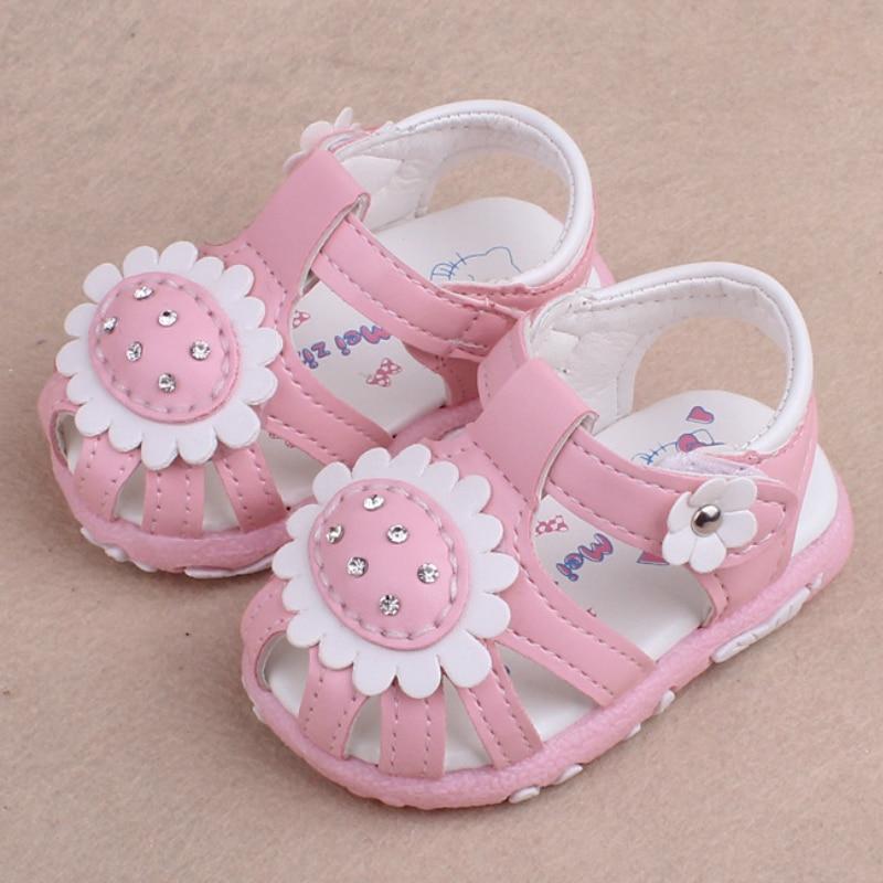 Summer Baby Girl Sandals Cute Sunflower