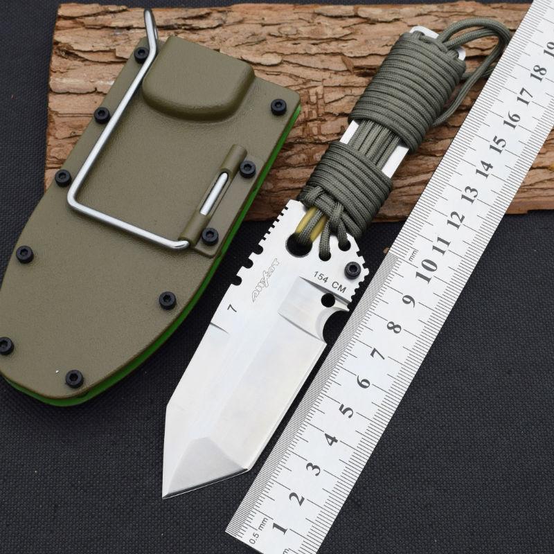 font b Tactical b font font b Knife b font 58HRC Dwaine Carrillo Fixed 154CM