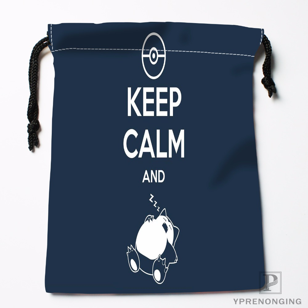 Custom Keep Calm And Drawstring Bags Printing Fashion Travel Storage Mini Pouch Swim Hiking Toy Bag Size 18x22cm#180412-11-20