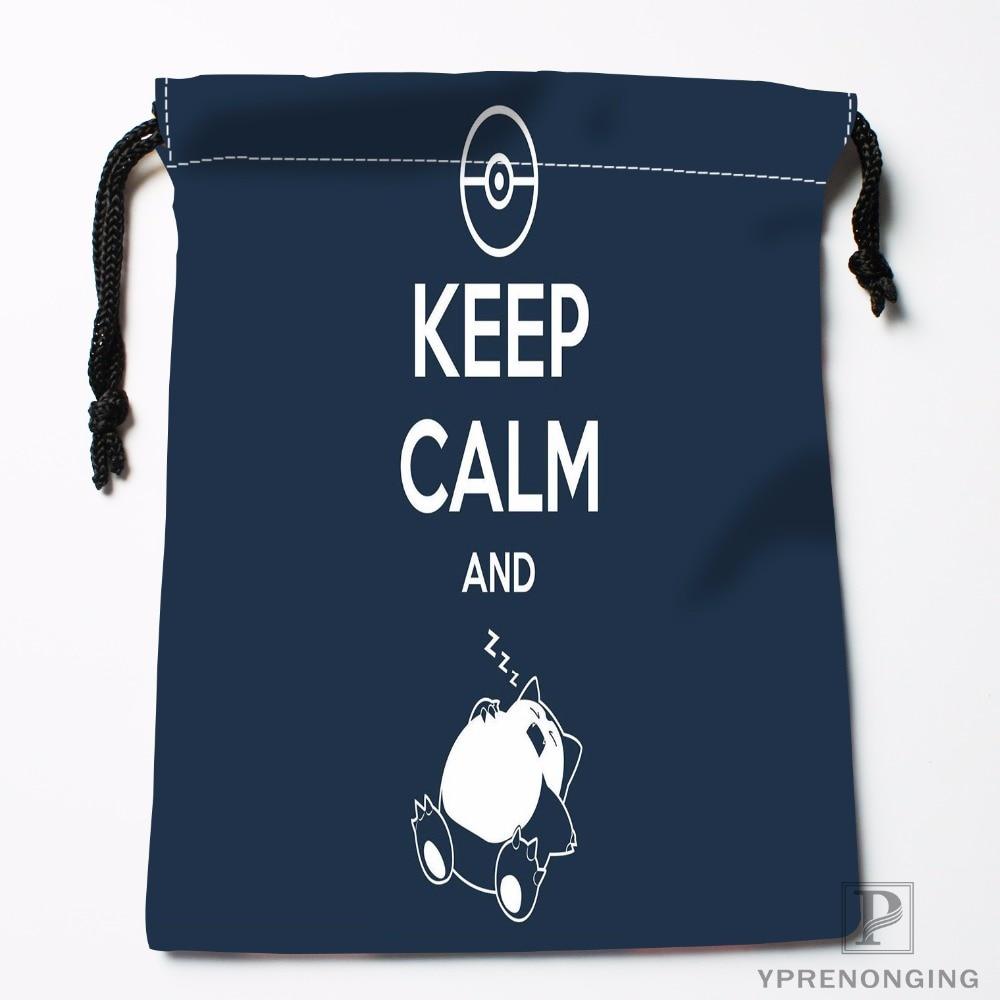 Custom Keep Calm And Drawstring Bags Printing Fashion Travel Storage Mini Pouch Swim Hiking Toy Bag Size 18x22cm#180412-11-20
