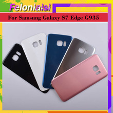 10Pcs/lot Original For Samsung Galaxy S7 Edge G935 G9350 G935F SM-G935F Housing Battery Cover Back Cover Case Rear Door Chassis цена 2017