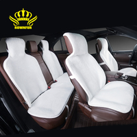 Fur Capes On The Seat Of The Cars Avtochehly All Seats Set 5 Pcs Color Gray