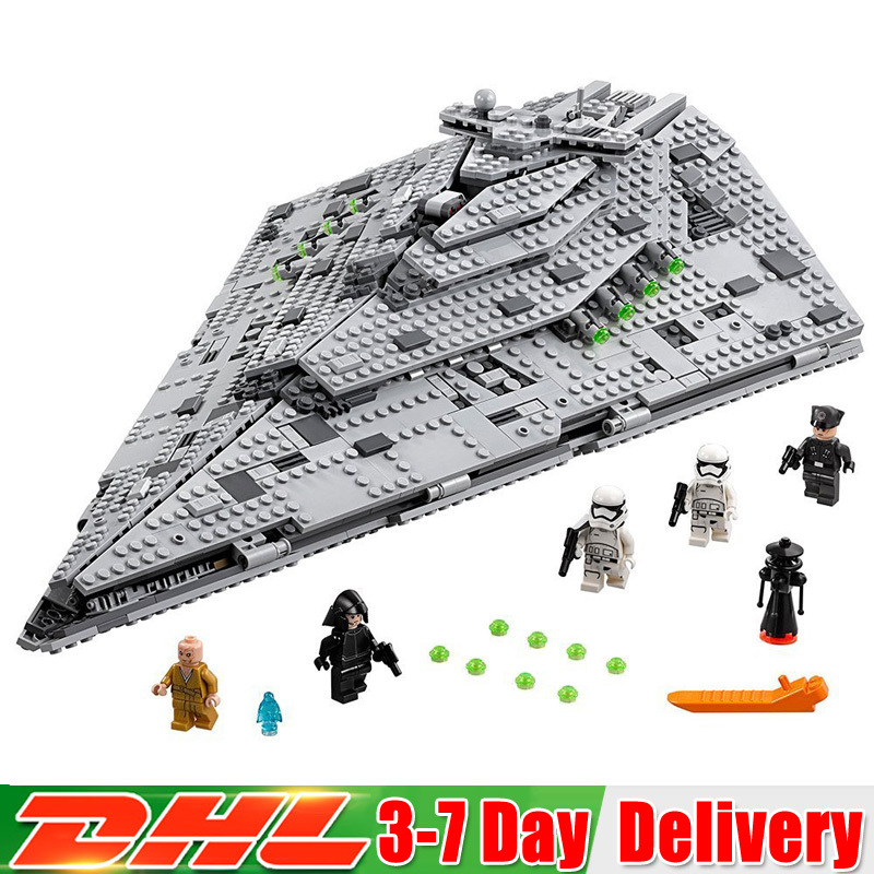 2018 Star War The First Order Star Destroyer Set Compatible LegoINGlys 75190 Building Blocks Bricks bela building blocks guardians of the galaxy groot rocket star space war set diy bricks toy compatible with superheroes