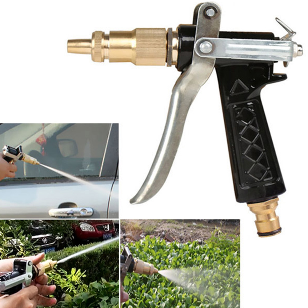 HOT Water Gun Spray Nozzle Copper Multifunction Household High Pressure Water Nozzle For Car Washing Garden Watering #705