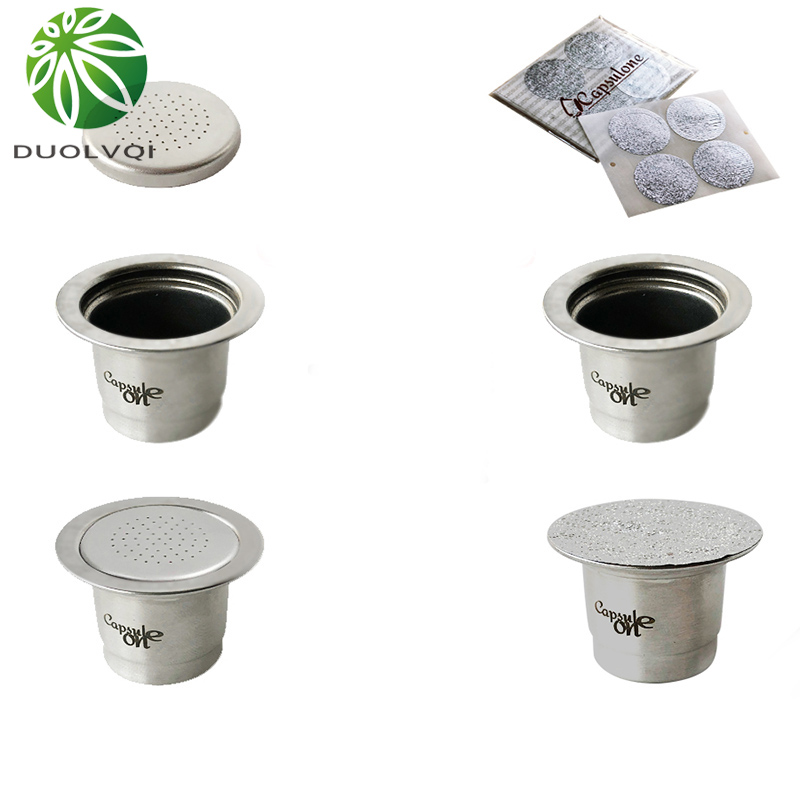 Reusable Coffee Capsule Filter Stainless Steel Practical Coffee Capsules Refillable Capsule Cups For Nespresso Coffee Machine