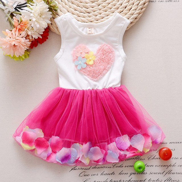 Girl's Summer Short Sleeve Lace, Chiffon Dress