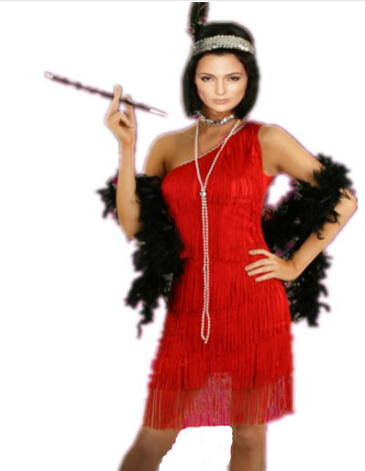 free shipping Adult Black Roaring Flapper Charleston Fancy Dress Costume 20s Sexy costume 3 colors S,M,L,XL,2XL 3XL IN STOCK