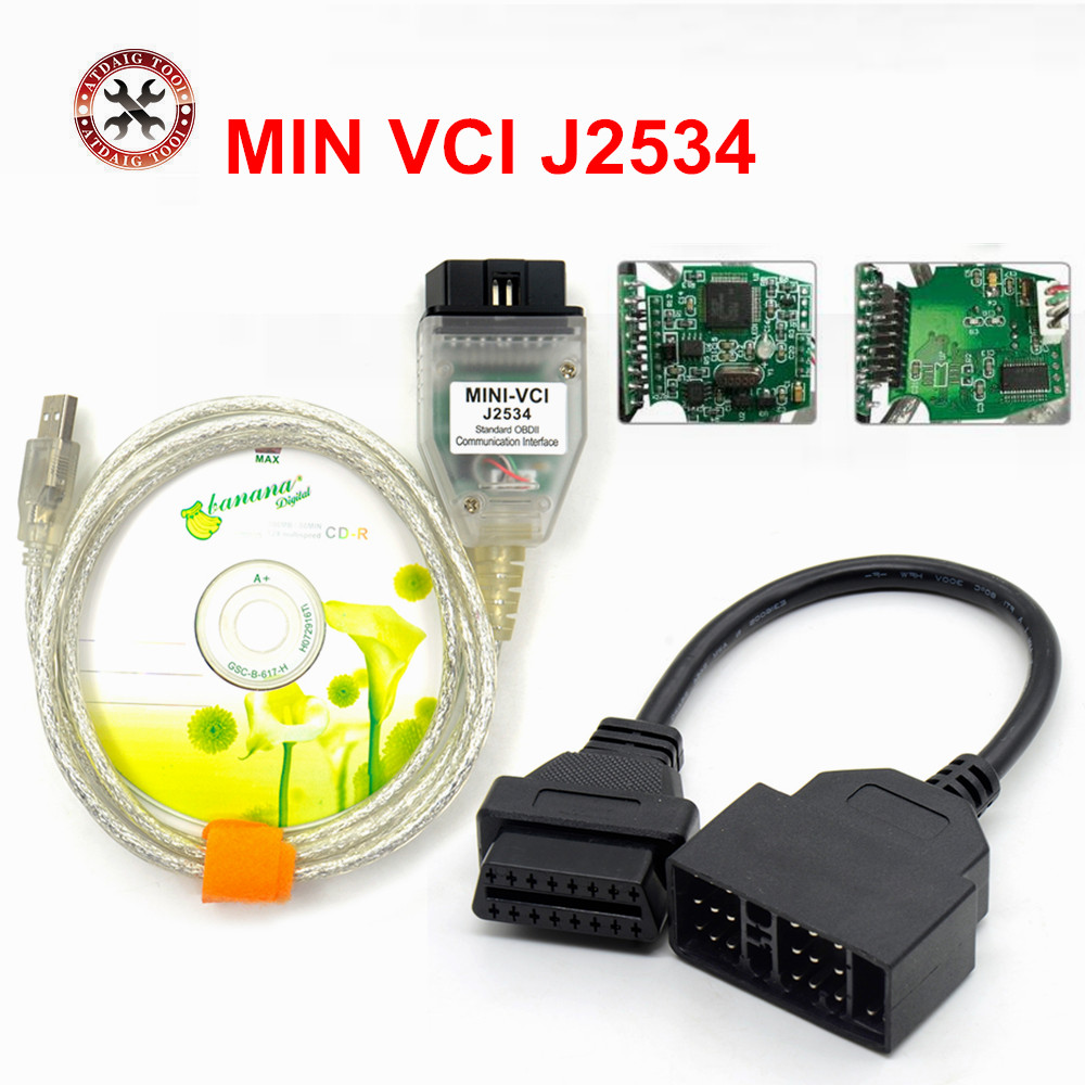 2018 Newest V10.30.029 MINI VCI Interface FOR TOYOTA TIS Techstream J2534 OBD2 OBDII Diagnostic Cable 22PIN For Toyota