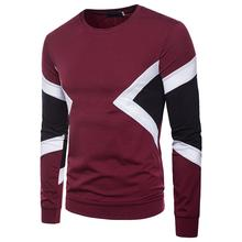 Splice Round Neck Men's T-Shirt Long sleeve Men's Clothing Tops Tees T Shirt Men stylish camouflage round neck long sleeve t shirt for men