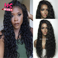 Cheap Top Sales 200% Density Black Color Wigs Kinky Curly Synthetic Lace Front Wig Glueless Heat Resistant Female Curly Hair