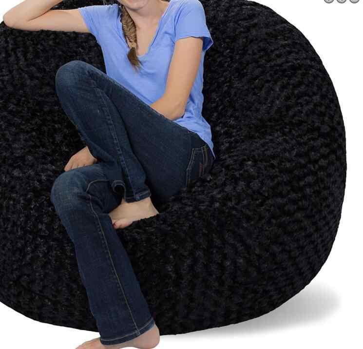 Cadeira do saco de feijão para Adultos espreguiçadeira beanbag COVER, não incluído com recheios Midnight Raposa materail