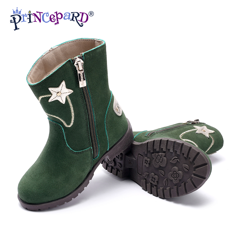 d871fa1af7 Princepard Kids Boots Shoes For Girl Boys baby Leather Sneakers Girls Shoes  For Children Ankle Boots Cow suede Kids Shoes-in Sneakers from Mother & Kids  on ...