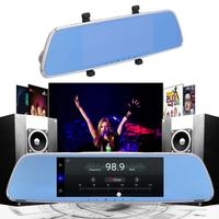 [Original]7inch Touch Screen GPS Driving Recorder Dual Camera 3G Smart Rearview Mirror HD Android Remote Support Car Wifi FM TF