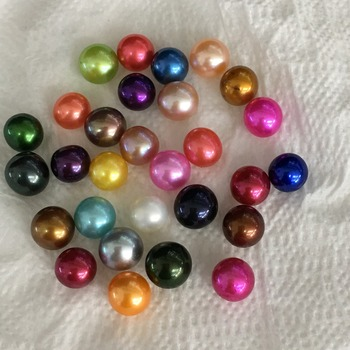 Free shipping 6-7mm Freshwater Vacuum-Pack round Oyster With Pearls Love Wish Pearl Oyster Different Color Pearl ZY007