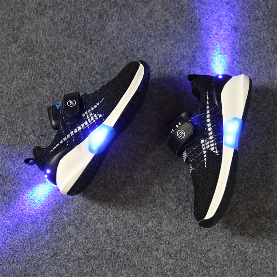 Led Shoes Kids Usb Charging Girls Boys Fashion Sneakers With Luminous Sole Children Light Up Sneakers Kids Led Luminous 50Z0062 25 40 size usb charging basket led children shoes with light up kids casual boys