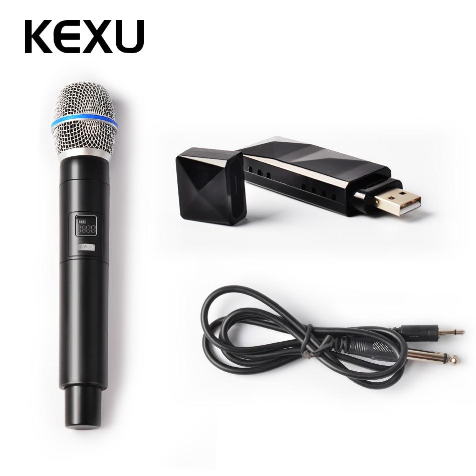 kexu usb wireless microphone uhf handheld cardioid vocal mic studio dynamic mic for karaoke. Black Bedroom Furniture Sets. Home Design Ideas