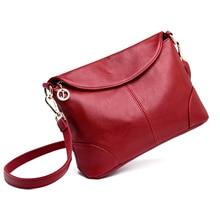 New Elegant Shoulder Bag for Women Leather Fashion Envelope Crossbody Bag With 2 Shoulder Straps Black Blue Purple Red