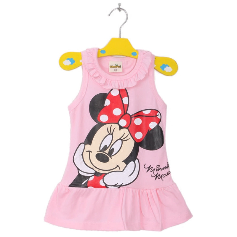 Summer Baby Girl Dress Mickey Children Dress Cotton Newborn Baby Clothes Baby Girl Clothes Cartoon Roupas Bebe Kids Clothing