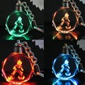 DRAGON BALL LED Keychain (Change Colors) llaveros Mujer Marcas Anime Chaveiro Porte Clef Key Holder Sleutelhanger Porte Cle