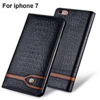 Luxury Genuine Leather case For iPhone7 4.7inch flip phone shell case cover For iPhone 7 Ip7 case back cover leather shell capas