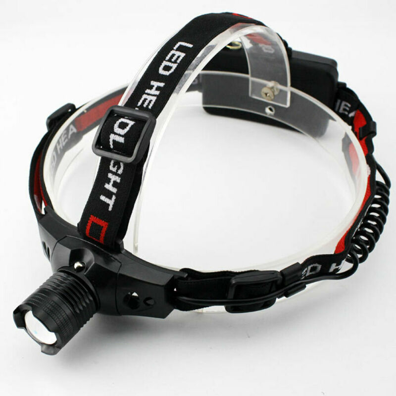 Super Bright Head Torch LED USB Rechargeable Headlamp Headlight Camping Running