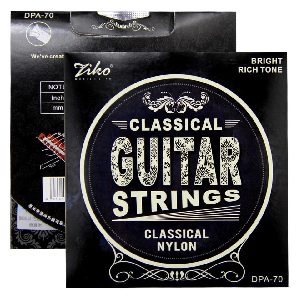 ZIKO Guitar Strings CLASSICAL NYLON Bright Rich Tone  .028-.043 Inch Nylon String