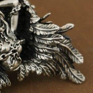 Image 3 - LINSION Высокая деталь 925 пробы серебряный кулон Андромеда сексуальный ангел Байкерский кулон TA82