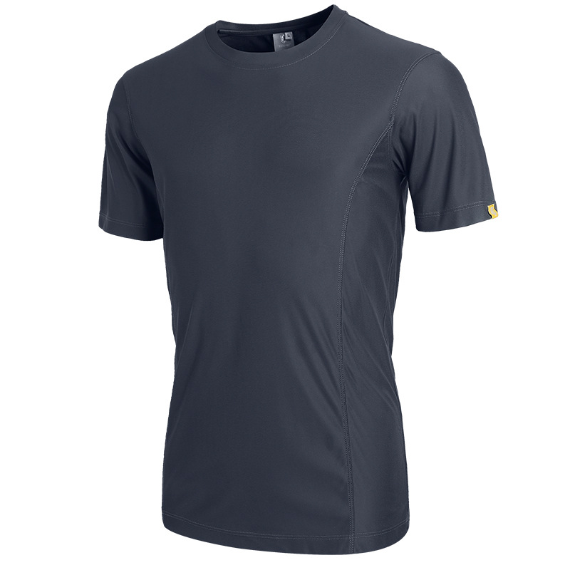 JOZSI Quick Dry Men O-neck T Shirt Short Sleeve Summer T Shirt Men Breathable  L-2213