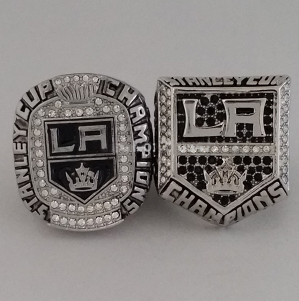 Factory Direct Sale Solid Back A set(2 pcs) 2012&2014 Los Angeles Kings Stanley Cup Championship Ring NHL Hockey Ring