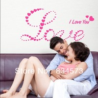 Free Shipping I Love You Heart Bedroom Home Decoration Wall Art Vinyl Decal Sticker Wall Stickers
