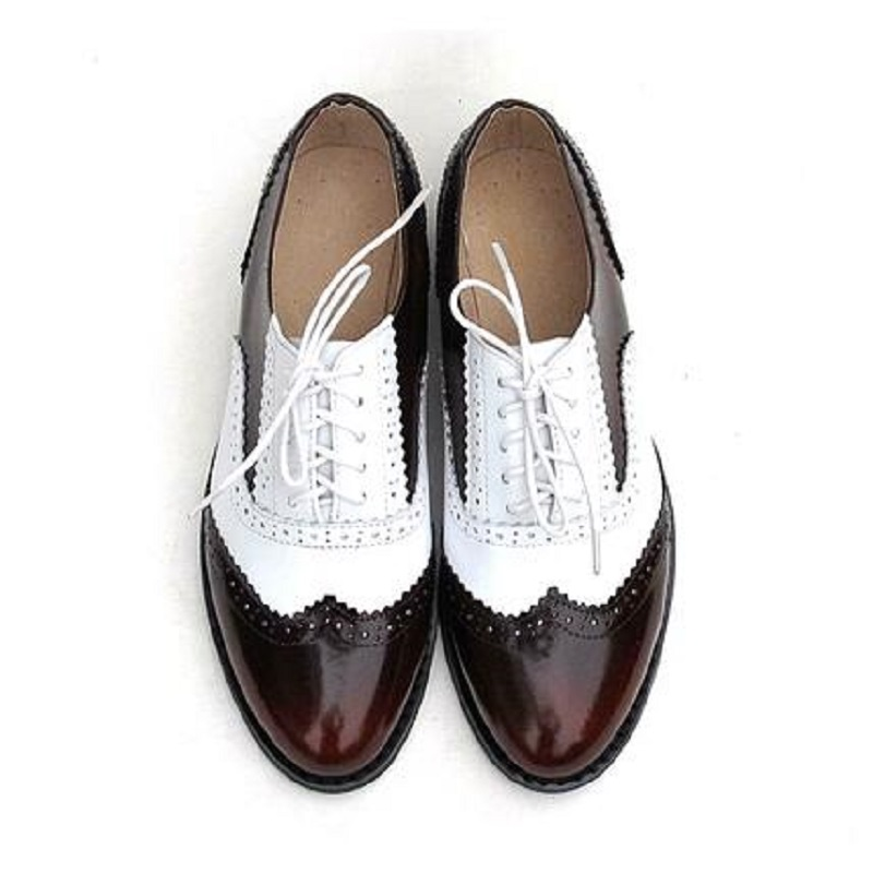 size 33~43 New 2015 Leather Women Oxfords Tassels, British Vintage Brogues Oxford Shoes for Women Platform Flat Heel Shoes