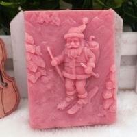 סבוני עובש סבון תבניות DIY צורות סיליקון החלקה סנטה קלאוס חג המולד עובש כלי אפיית תבנית שוקולד תבניות עוגה