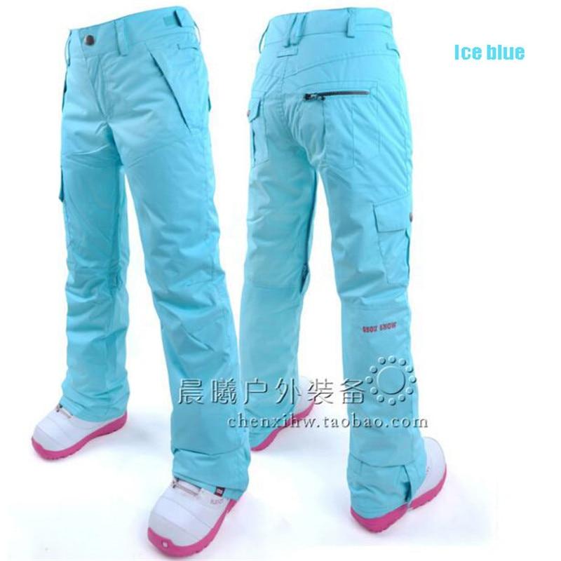 Gsou Snow pantalon de Snowboard femme imperméable femme respirant coupe-vent pantalon Sport extérieur Ski pantalon livraison gratuite pantalon de Ski - 2