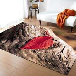3d dywan pozostawia część dzienna dywanik do sypialni pokój dziecięcy miękka sofa kreatywny dywan mata do kąpieli parolor przedpokój dywan dostosowane w Dywany od Dom i ogród na