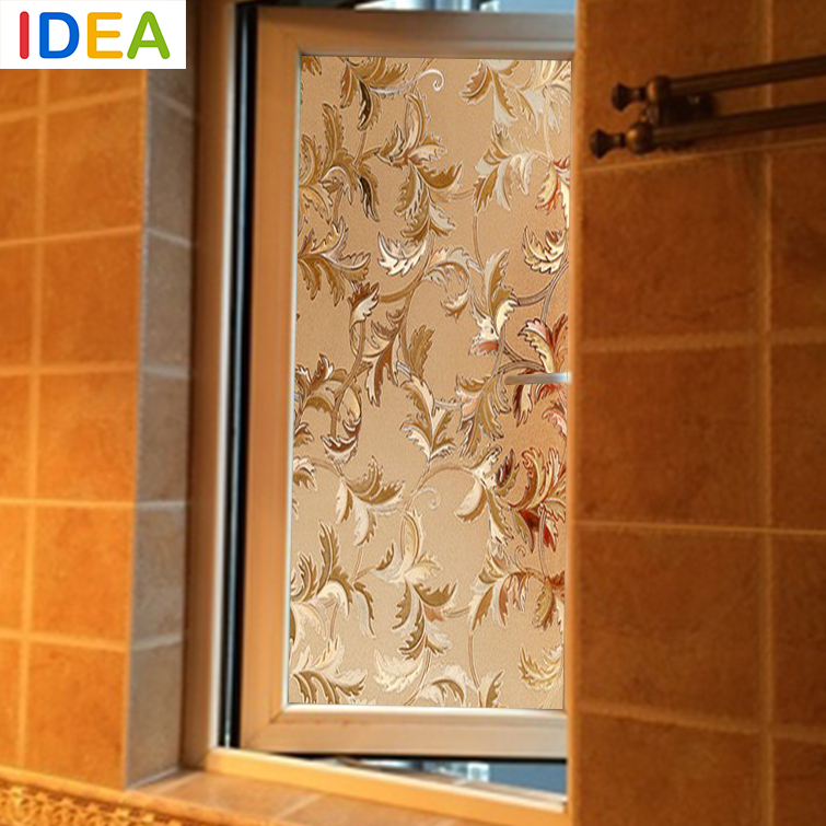 Idea High Quality 45x100cm Gold Flower Opaque Vinyl