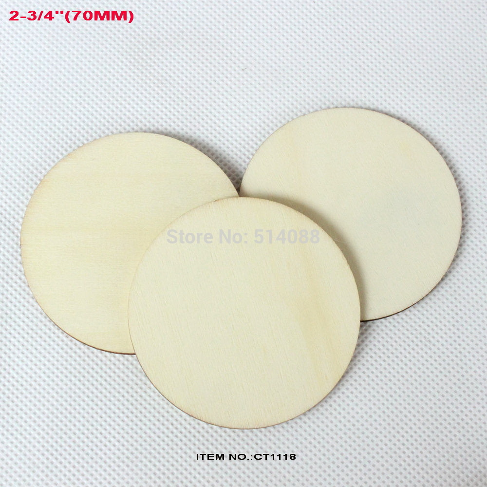 Wooden circles for crafts -  40pcs Lot Natural Unfinished Large Circle Wood Disk Cutouts Round Wooden Disc Wedding Crafts Save Date 2 3 4 Inches Ct1118