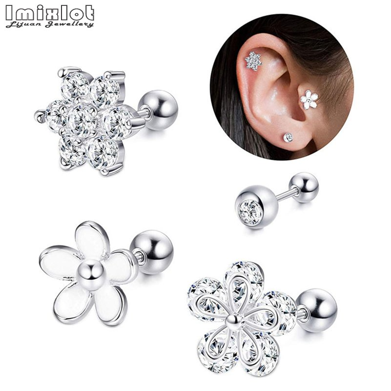 4Pcs/set Lip Stud Ring...