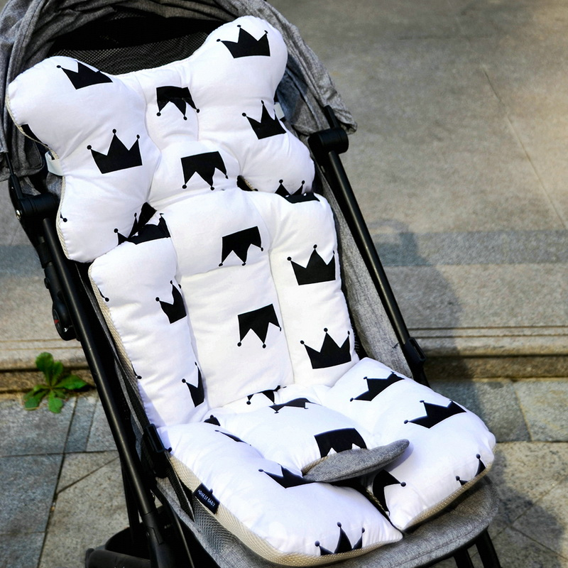 Honest Baby Stroller Cushion Thicken Cartoon Printed Carriage Pram Cart Seat Pad Cover Mat Mattress Pram Stroller Accessories Strollers Accessories Mother & Kids