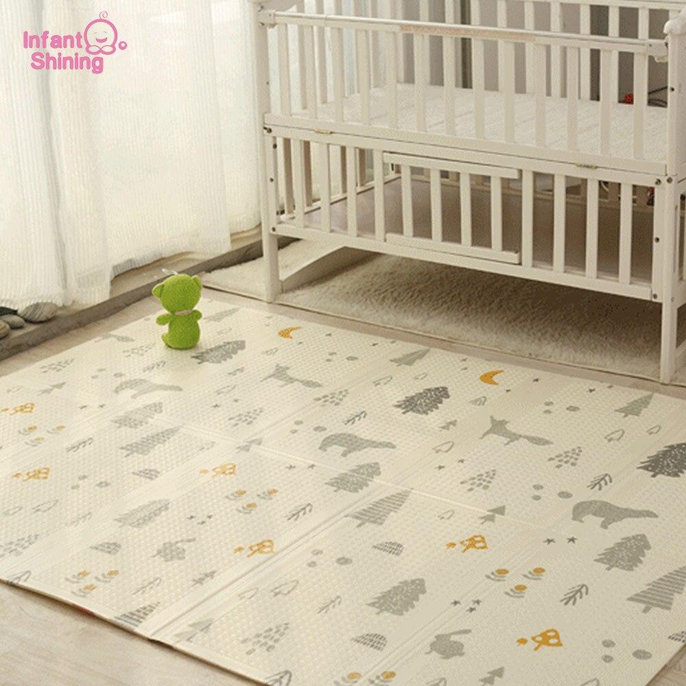 Infantile Brillant 200 cm * 180 cm * 1 cm Bébé Jouer Mat Pliage XPE Rampant Pad Maison En Plein Air Pliage étanche Jeu de Puzzle Tapis de Jeu
