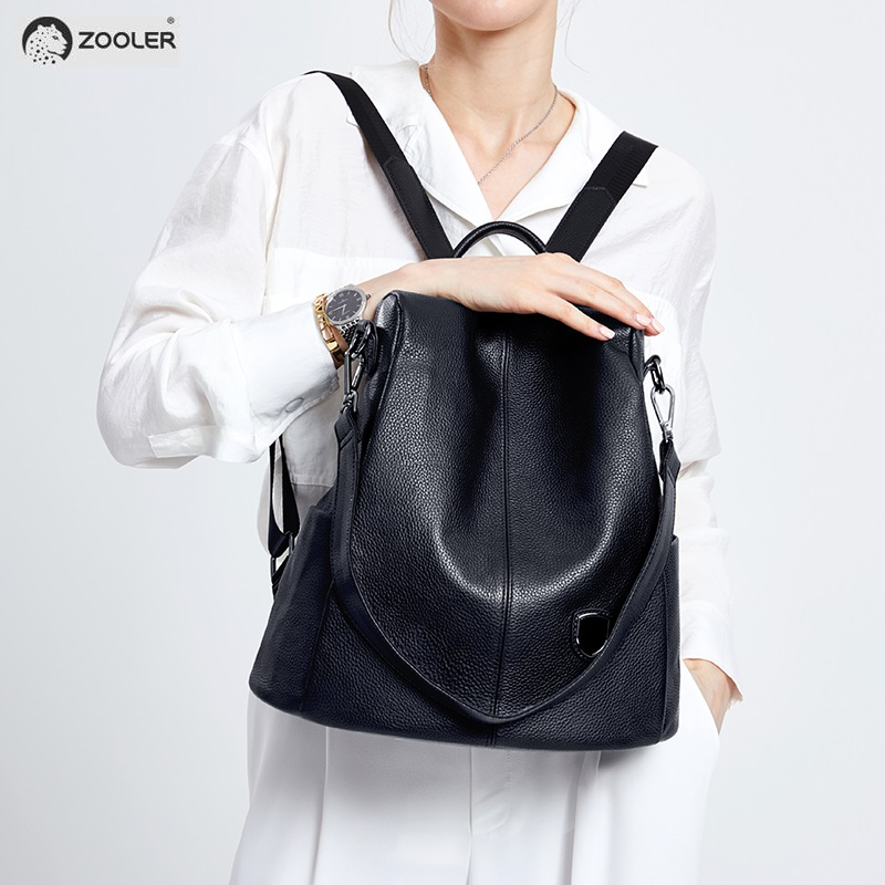 2019 COW leather backpack Genuine Leather bags women backpacks elegant soft school bag travel tote bags