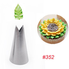 352# 1PCS NEW Leaves Nozzles Icing Piping Tips Nozzles Pastry Cream Cupcake Cake Decorating Cooking Tools m172 new writing cupcake tube high quality steel cake decorating tips pastry nozzles cake making tools